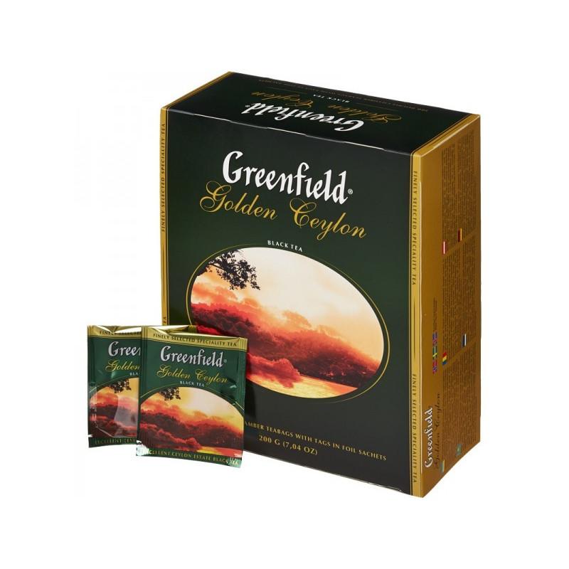 чай гринфилд голден цейлон 100 пакетиков купить